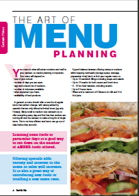 The Art of Menu Planning