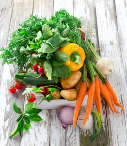 Bundle of Fresh Vegetables