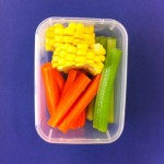 Corn, carrots and cucumber