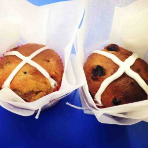 Healthy Easter Hot Cross Muffins