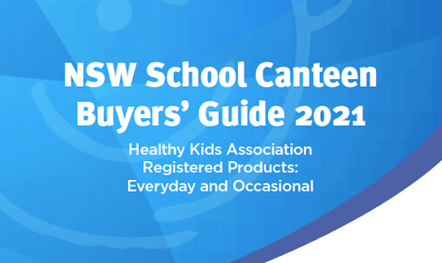 2021 NSW School Canteen Buyers' Guide available now!