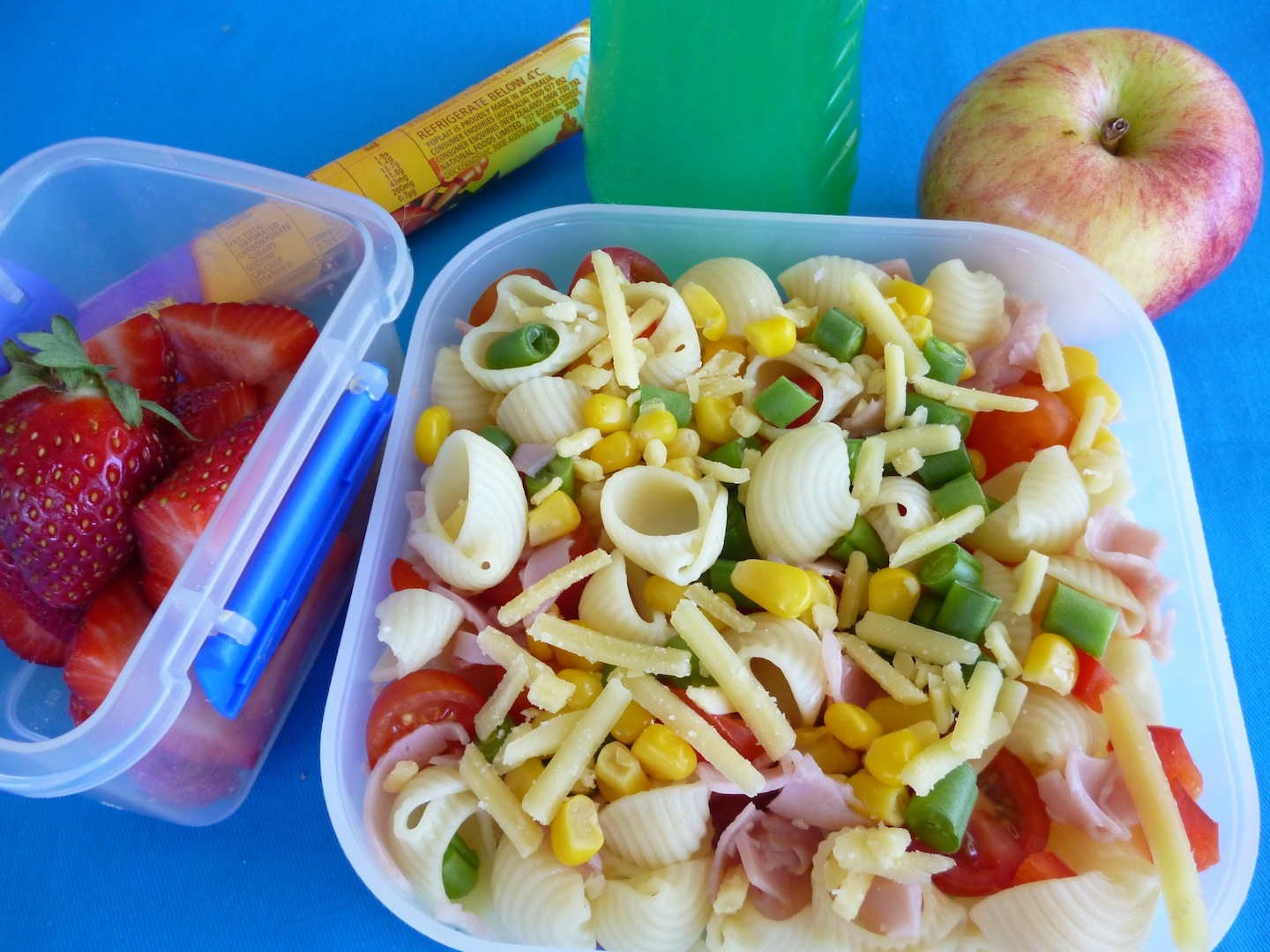Pasta salad works healthy kids for Salas lunchs