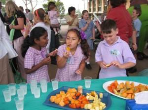 School Children in a Hub of activity