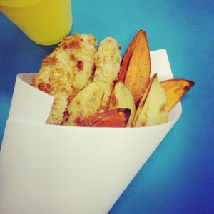Healthy Easter Fish and Chips