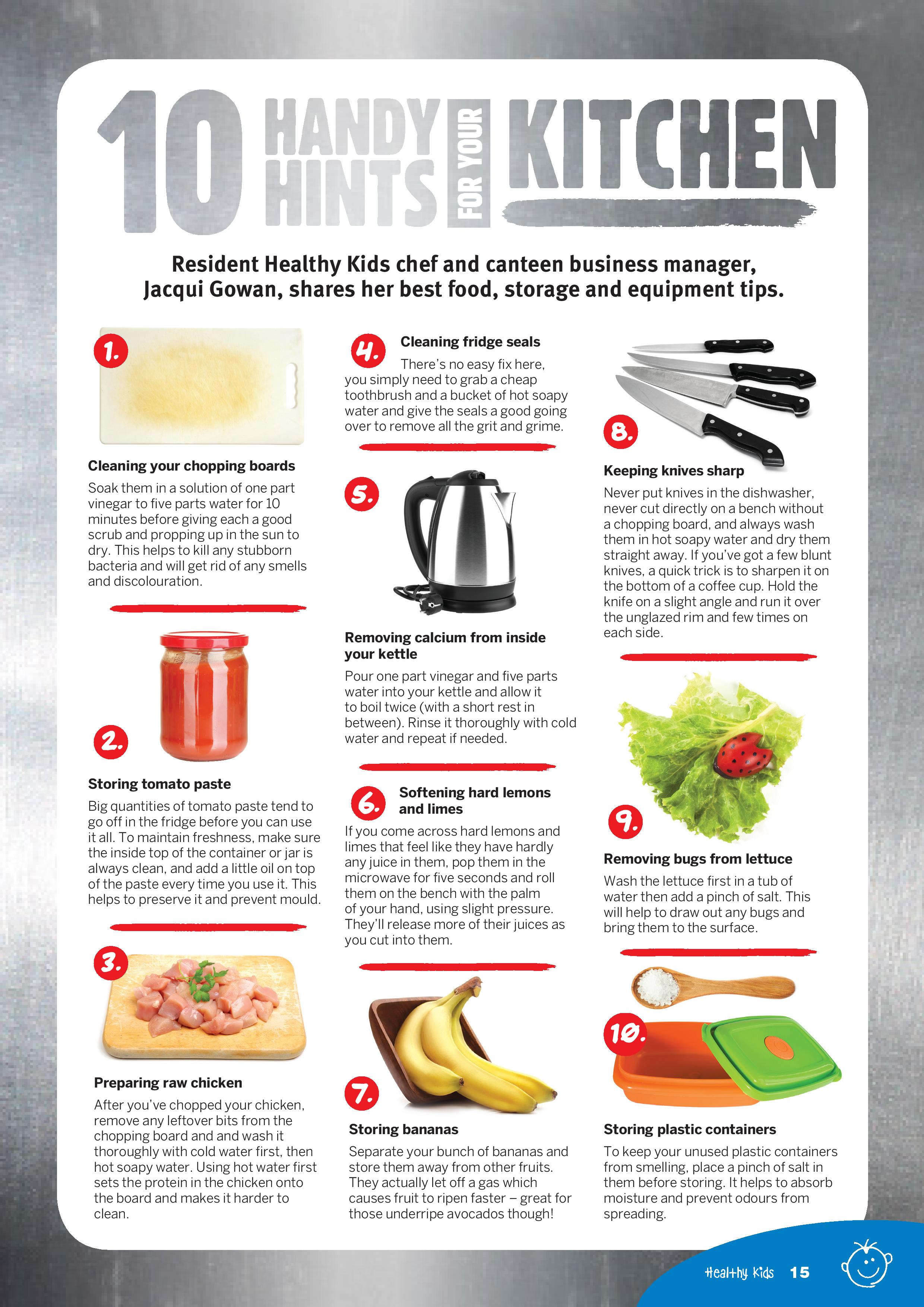 10 Handy Hints For Your Kitchen Healthy Kids